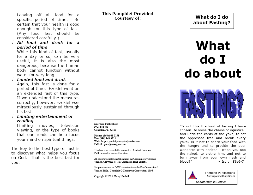 What Do I Do About Fasting?