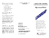 Spiritual Gifts:  Leadership, front.
